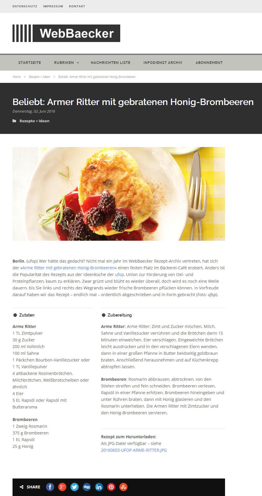 Brombeeren Viele Vitamine Wenig Kalorien Webbaeckernet