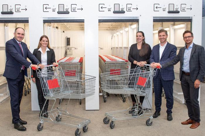 Spar Österreich: erprobt Desinfektion von Einkaufswägen mit UV-Licht