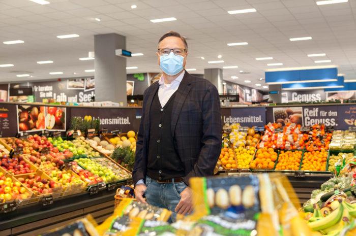 Sicher einkaufen: Edeka Clausen schützt Mitarbeiter und Kunden mit UV-C-Licht
