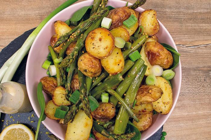 KMG: Zwei schöne Rezepte für Kartoffeln mit Spargel