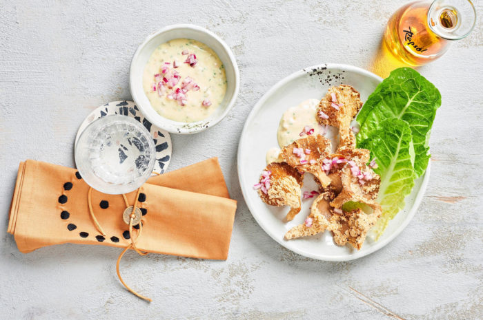 Für Feinschmecker: Knusprige Austernpilze mit Rapsöl-Tatar-Sauce